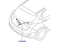 Hyundai i30 Tail Gate Wiring Harness 91680A6010