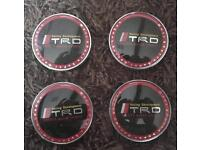 TRD alloy wheel centre caps 68mm