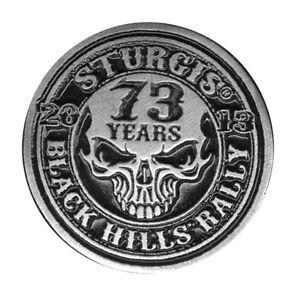 STURGIS 2013 BIKER RALLY Stencil Skull BIKER PIN