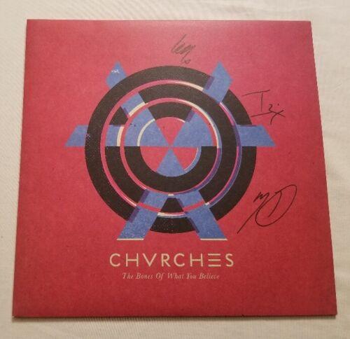 Chrvches Autographed Bones Of What You Believe Vinyl LP