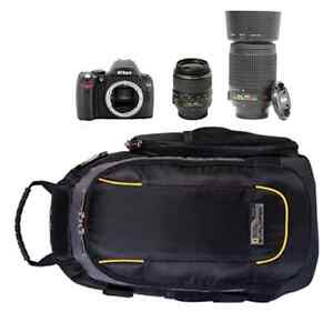 Nikon D40+18-55mm lens+55-200mm lens+National Geographic Bag