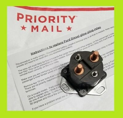 Made in USA FORD DIESEL GLOW PLUG Relay 6.9 and  7.3 (Best 7.3 Glow Plug Relay)