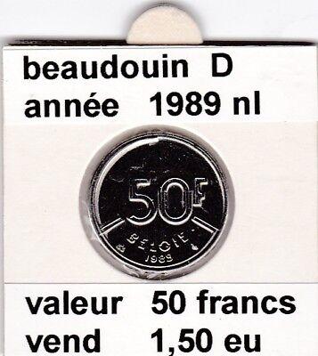 FB )pieces de beaudouin  50 francs  1989 belgie