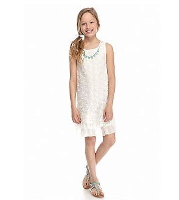 Clearance Girls Clothes (Beauties Floral Lace Swing Necklace Dress Girls Size 10 PRICE DROP)