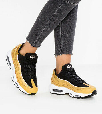 Nike Air Max 95 LX Gold Black Women's Lifestyle Trainers UK 4 US 6.5 EUR 37.5