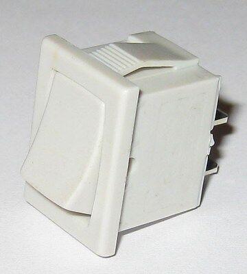 Joemex 83 Series Miniature Rocker Switch - Spst - 125v 15a - 250v 10a - Snap-in