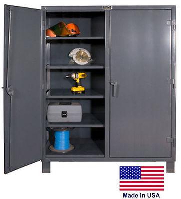 Storage Cabinet Commercialindl - 12 Gauge Steel - 8 Shelf - Gray - 78x72x24  D
