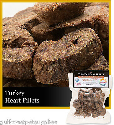 Fresh is Best Freeze Dried Turkey Heart Fillets Treats for Dogs and Cats