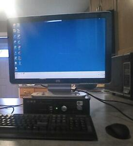 Windows 7 ultimate computer with a 20 Inch screen