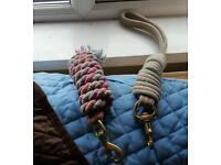 Two Horse leashes