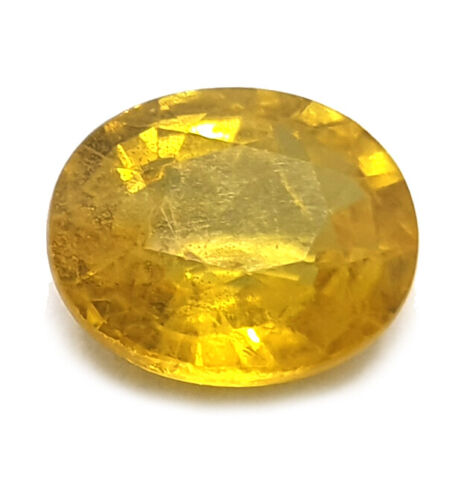 Finest Quality Certified 3.55Ct Natural Mined Yellow Sapphire Loose Gemstone