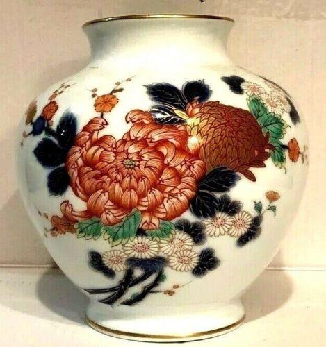 Vintage Fukagawa Signed Porcelain Japanese Arita Vase Large Excellent