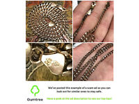 Fabulous-9ct-Gold Solid-Curb-Chain-Necklace-HEAVY -- Read the description before repling to this ad!