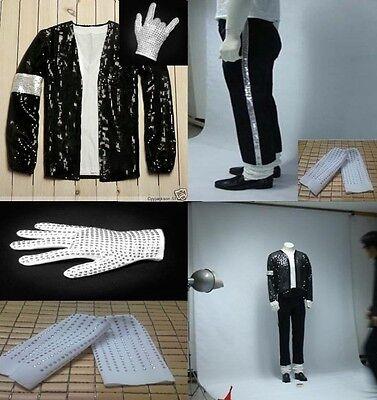 Michael Jackson Billie Jean MJ Costume Accessories MJ Jacket Pant Glove Socks