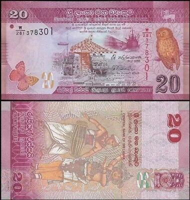 SRI LANKA 20 Rupees, 2015, P-123, UNC World Currency