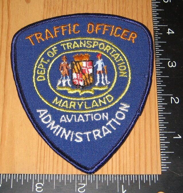 Traffic Officer Aviation Administration Dept. of Transportation Maryland Patch
