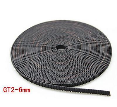 5m Reprap Gt2 Timing Belt 6mm Wide 2mm Pitch 2gt For 3d Printer Prusa Mendel 1m