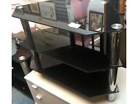 Black glass tv unit #27551 £25
