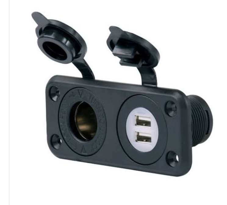 MARINCO 12VCOMBO SEALINK DELUXE DUAL USB + 12 VOLT CHARGER RECEPTACLE