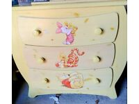 Whinnie the Pooh honey pot draws and wardrobe