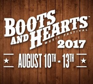 BOOTS AND HEARTS WEEKEND PASSES