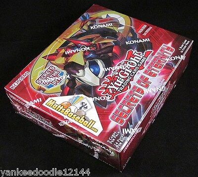 YUGIOH SECRETS OF ETERNITY 1ST EDITION Factory Sealed Booster Box, 24 packs