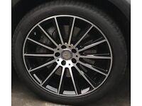 Mercedes GLC 20 inch AMG alloy wheels W253, as new, genuine