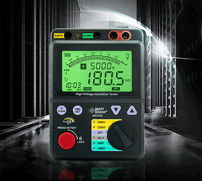 High Voltage 5kv Insulation Resistance Tester Megger 1t Ohm Pi Usb Lock Function