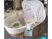 Brand new unused Kinder valley Moses basket & stand
