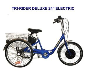 New Price! Belize Bicycle Tri-Rider Deluxe Electric Bike-RED