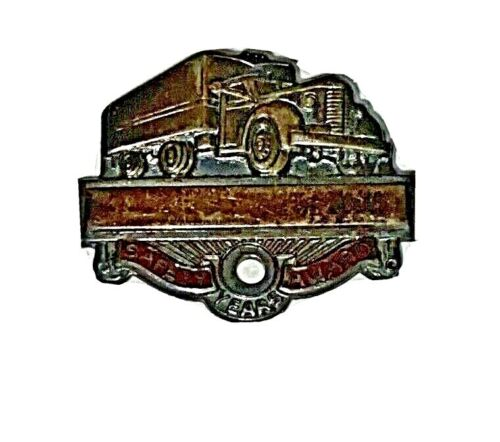 Vintage Safety Award Truck Lapel Pin
