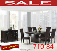710-84 8pc, dining table,chairs, server