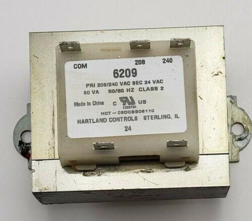 Hartland Controls Transformer 6209 HCT-09D0BB06110 208/240 PRI 24 SEC 50VA