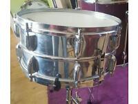 Vintage 1940's Beverley snare drum