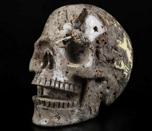 """Talking 5.1""""  JASPER Hand Carved Crystal Skull"""