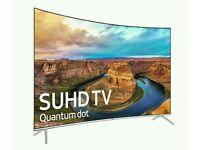 "SAMSUNG 43"" UE43KS7500 New Series Curved SUPER 4K SUHD with Quantum Dot Display TV"