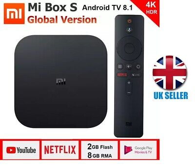 Xiaomi Mi Box S Digital 4K HDR 8GB Android TV Media Streamer - Black