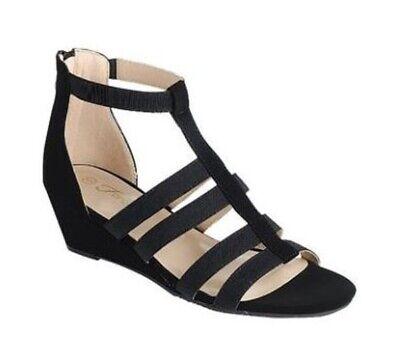 New women strappy gladiator wedge heel zipper sandals open toe shoes - Heel Gladiator Sandals