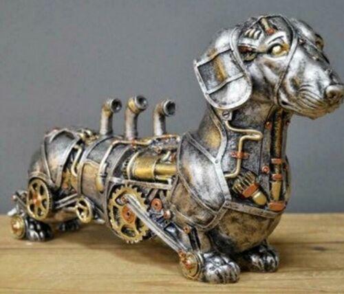 Steampunk Dachshund Figure