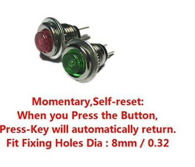 New Normally Open Momentary Self-reset Metal Micro Push Button Switch