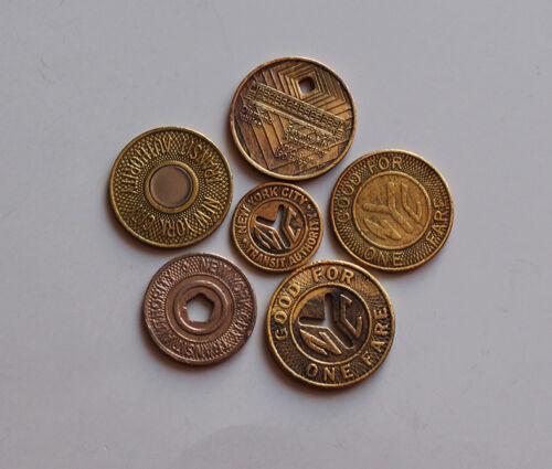 New York City 6-Subway Transit Tokens ( 6 tokens total )