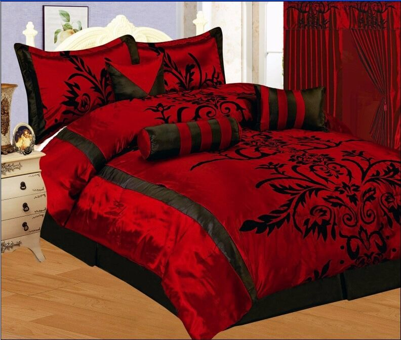 red and black comforters for sale