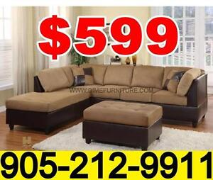 MAX Two tone microfibre sectional set $599