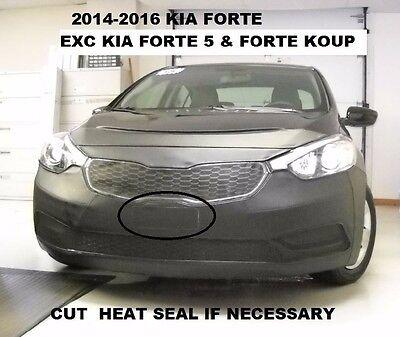 Lebra Front End Mask Cover Bra Fits Kia Forte 2014-2016 Exc. Forte5 & Forte Koup ()