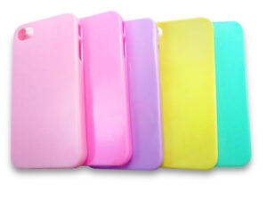 PASTEL-Plain-iPhone-4-Clip-On-Hard-Back-Case-Cover-CHOOSE-COLOUR-UK-SELLER