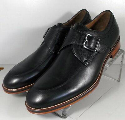 Men12 D Johnston Murphy Black Handcrafted Captoe Leather Upper & Sole Dress Shoe Dress Shoes Men's Shoes