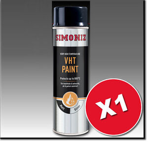 1 x Simoniz Very High Temperature VHT Silver  Aerosol Auto Car Spray Paint 500ml