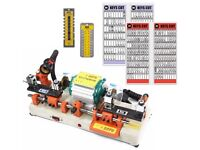 New Dual Key Cutting Machine and Keys Starter Kit