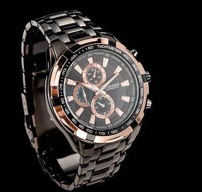 Clearance Sale Mens Business Watch 30M Dive Stainless Steel Quartz Wrist Watch