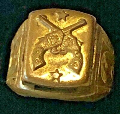 1940s Jewelry Styles and History Tom Mix Look Around Premium Ring 1940s $35.00 AT vintagedancer.com